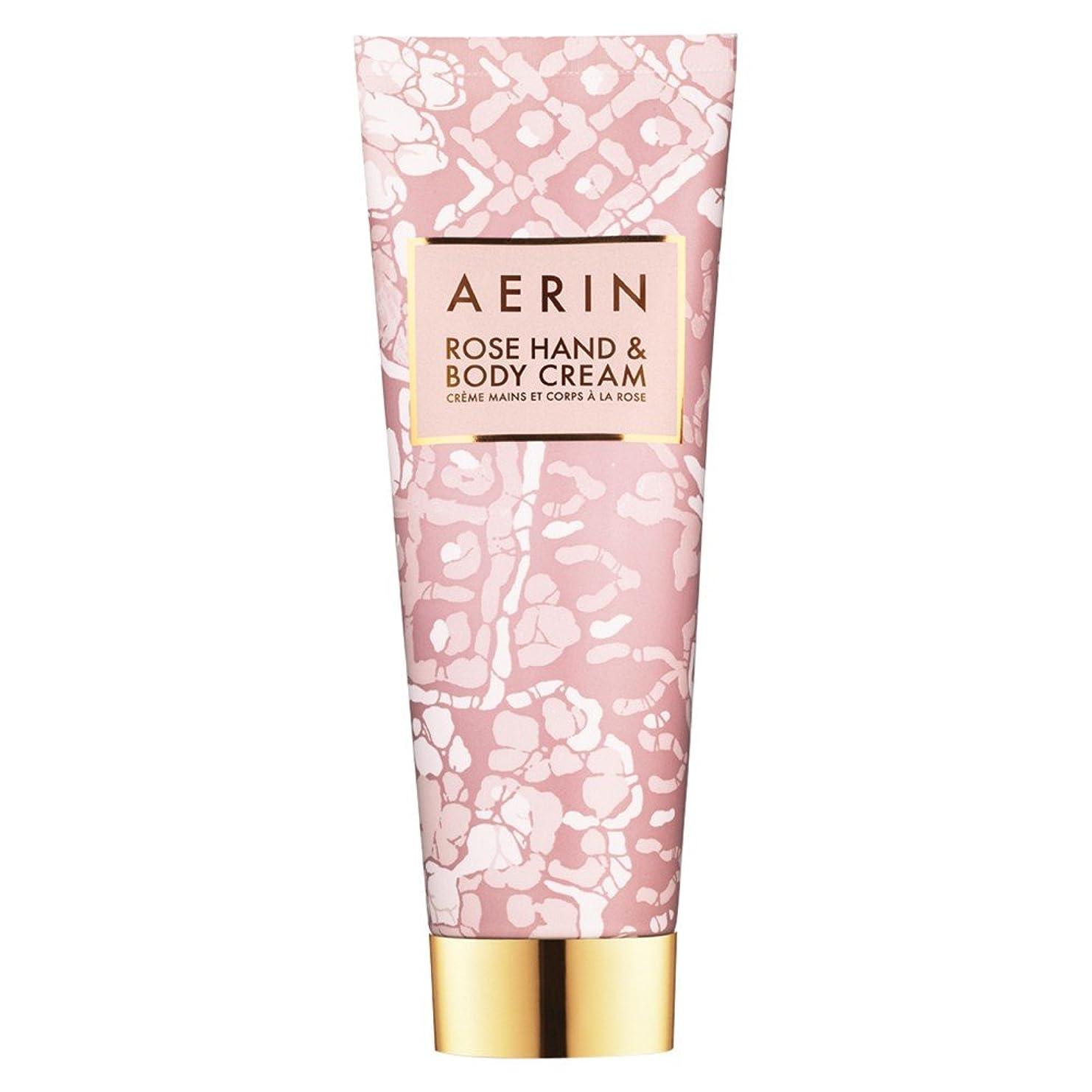 変装薄い手錠Aerinはハンド&ボディクリーム125ミリリットルをバラ (AERIN) (x2) - AERIN Rose Hand & Body Cream 125ml (Pack of 2) [並行輸入品]