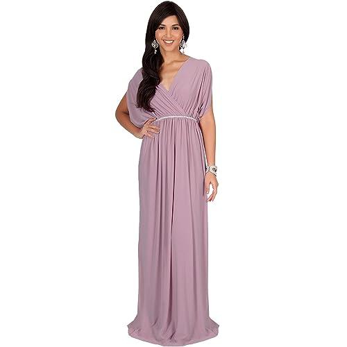 234b8e06c5968 KOH KOH Womens Long Dolman Sleeve Wrap V-Neck Maternity Bridesmaid Maxi  Dress