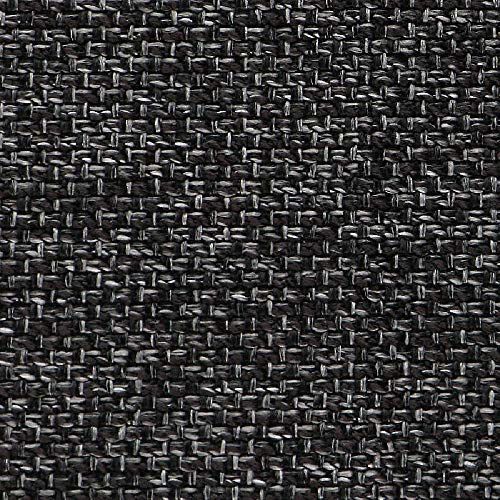 Deshome Elettra – Tejido jacquard al metro, altura 140 cm, para sofá, sillón, cortinas, cama (gris negro, 10 metros)