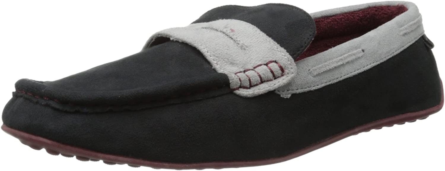 Dearfoams Men's color Blocked Penny Slipper