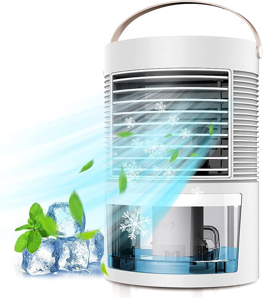 Houdian, mini raffreddatore d`aria portatile, ventilatore evaporativo umidificatore purificatore