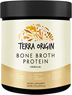 Bone Broth Protein Powder, Vanilla, 20 Servings, 19G Protein, Natural Collagen from Real Whole Food Sources - Supports Joint Comfort and Cartilage Health