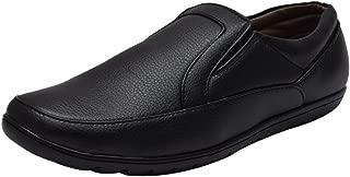 Sir Corbett Men's Synthetic Black Formal Slip On Shoes