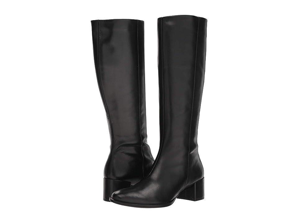 ECCO Shape 35 Block Tall Boot (Black Cow Leather) Women