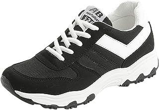 Scarpe da Ginnastica Corsa Donna Uomo Scarpe da Sportive Offerta Classica Stringata Palestra Running Sneaker Bianche Nero ...