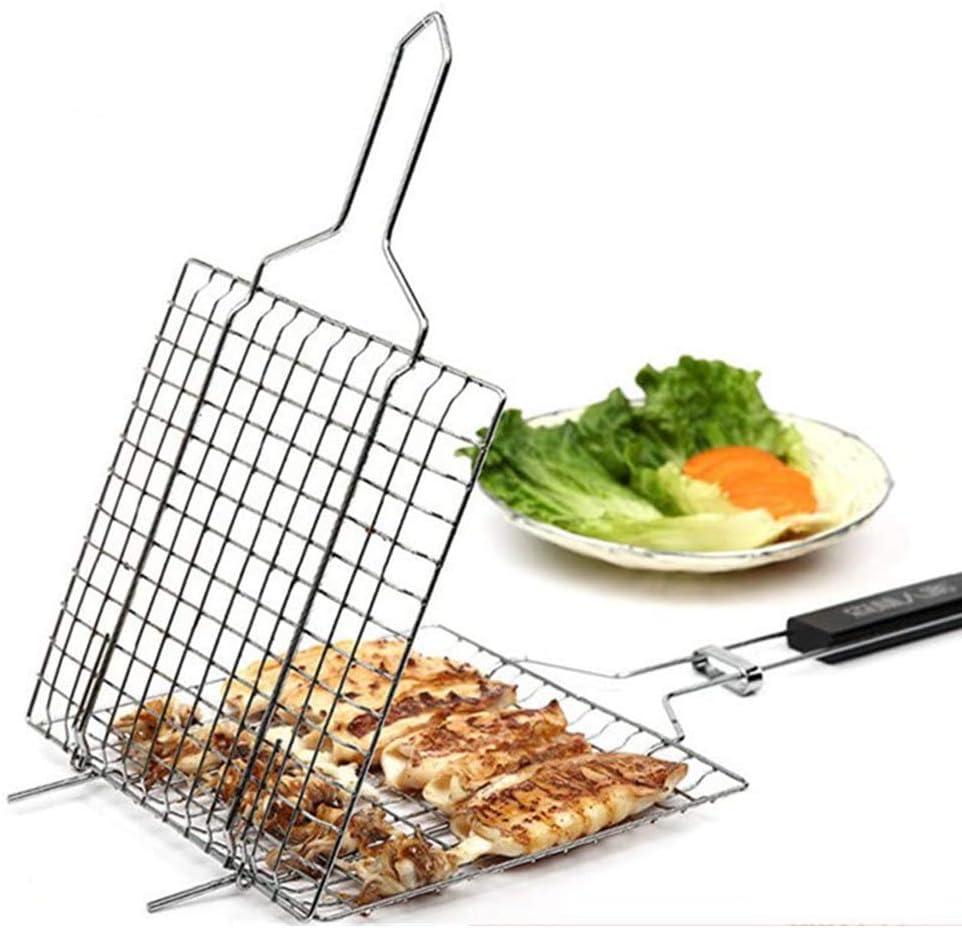 Ceakep Le Gril est composé d'un Panier de Gril en Acier Inoxydable 430, d'une Grille à Poisson, d'une Grande spatule pour Gril à Hamburger au Poulet, de Grandes Nouilles,E A