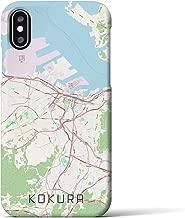 【小倉】地図柄iPhoneケース(バックカバータイプ・ナチュラル)iPhone XS/X 用 <全国300以上の品揃え> シンプル おしゃれ 大人 個性的 耐衝撃素材のiPhoneカバー(アイフォンケース アイフォンカバー スマホケース スマホカバー)