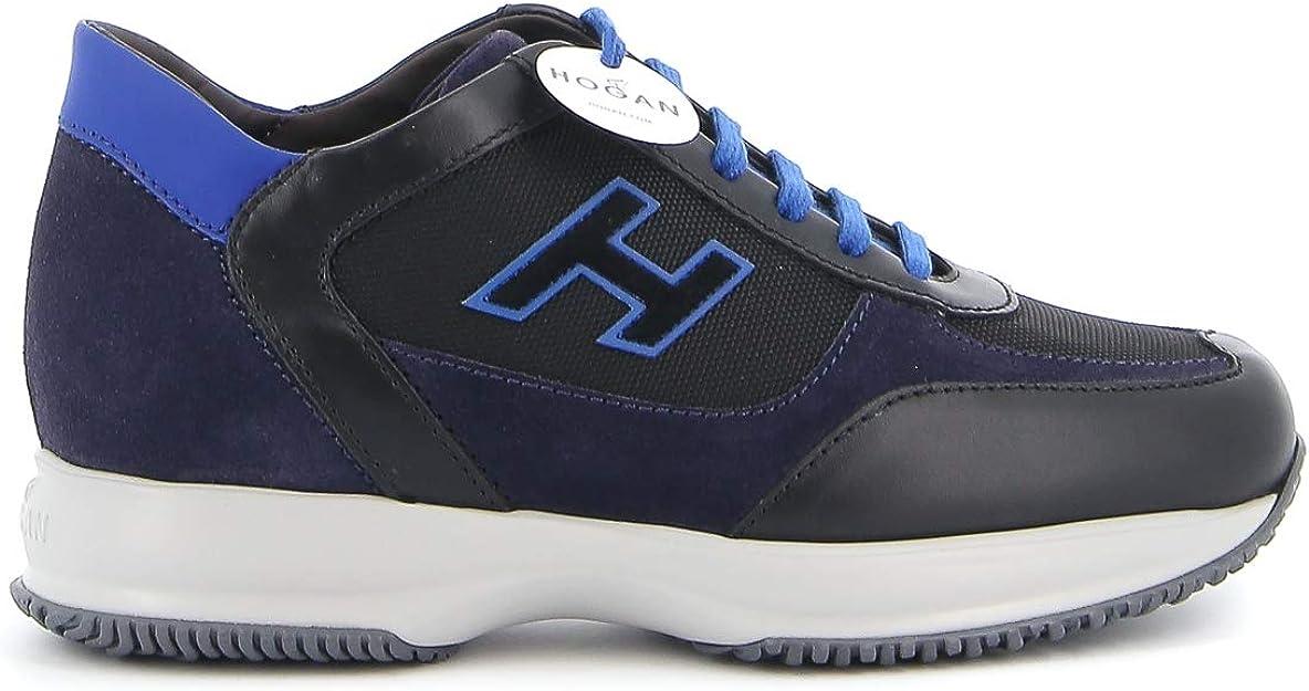 Hogan Sneakers Interactive Nere E Blu HXM00N0Q101O8N718N Uomo