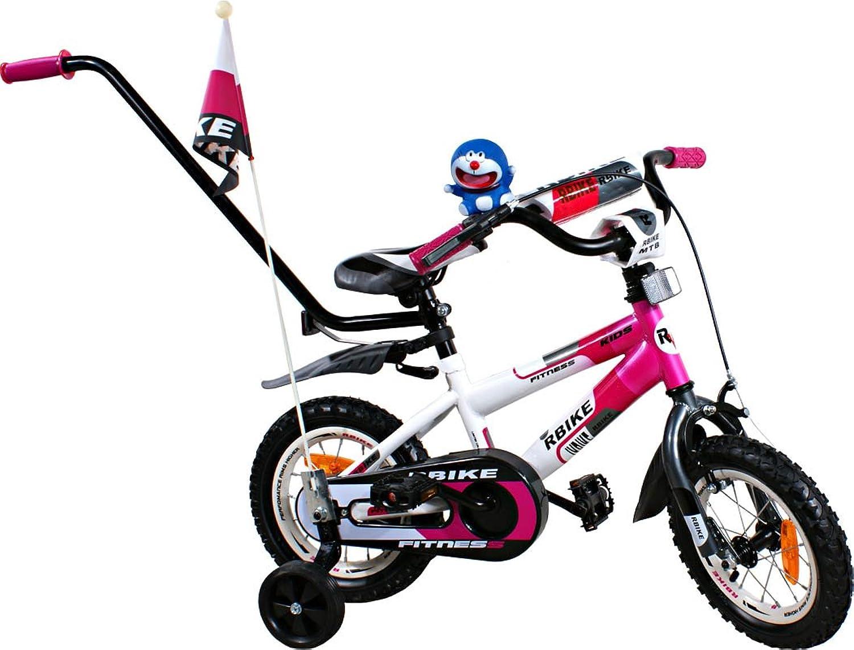 punto de venta barato Bike - Bicicleta para ninos - Bicicleta BMX Rbike 3-12 3-12 3-12 blanco-púrpura 12  - cesta, empujador para un padre, ruedas laterales  comprar marca