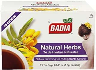 CubanFoodMarket Badia Natural Herb Tea. Total individual tea bags, 100 Count (Pack of 4)