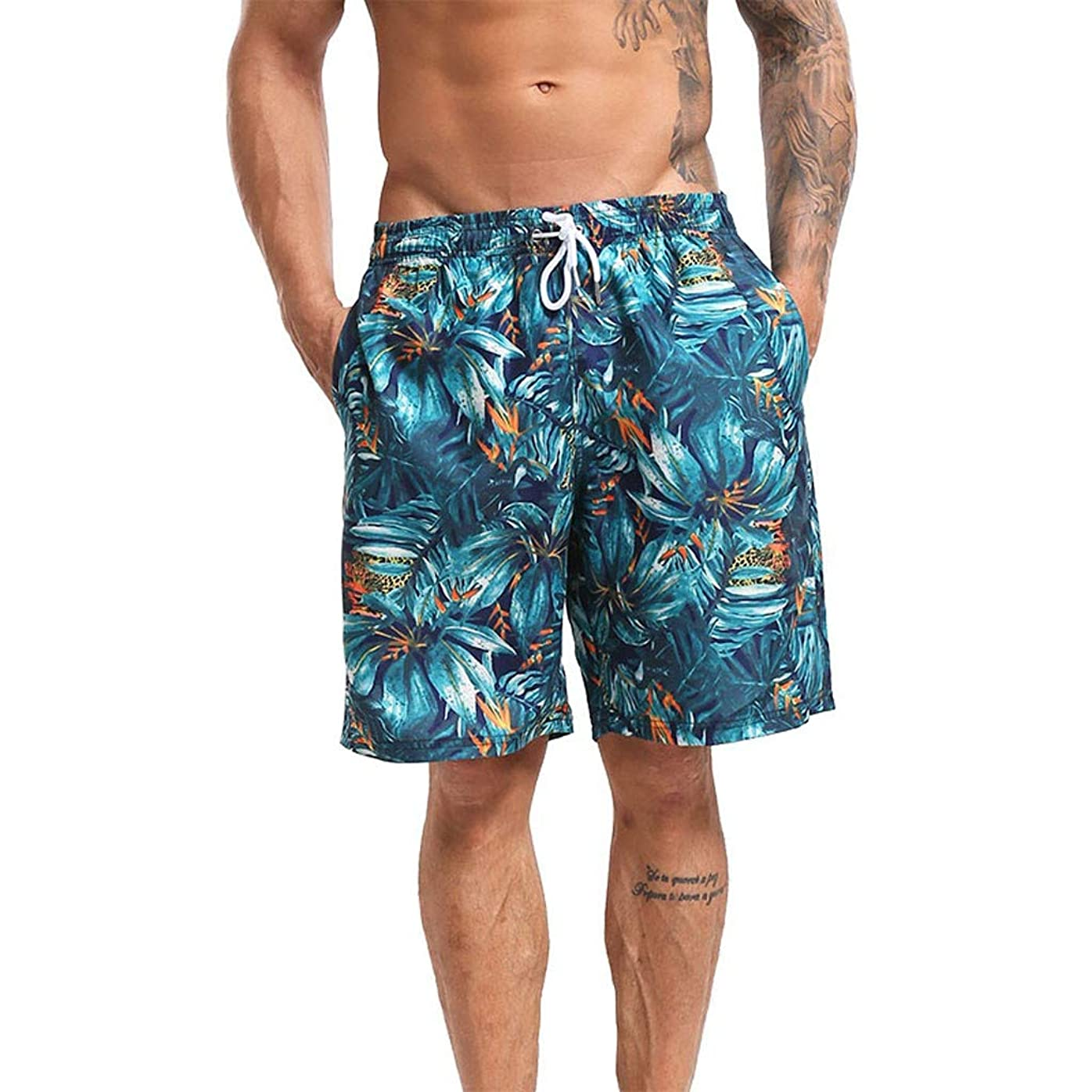 クマノミデザイナー命題メンズ 水着Jopinia 夏 安い短パン プリントビーチパンツ 大きいサイズビーチパンツ 五分丈 おしゃれ海パン 水陸両用水着 通気速乾スイムウェア 温泉旅行 プール ファッションパンツ