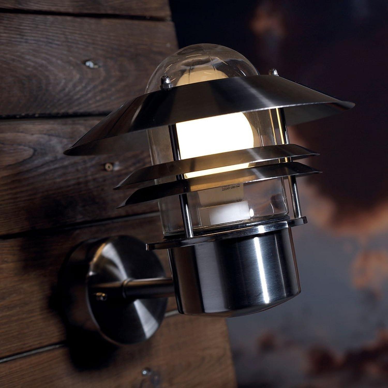 LICHT-TREND Soyer   Aussen-Wandlampe   23 cm   Edelstahl