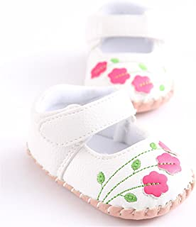 Meckior Infant Baby Girls Sandas Summer Soft Leather No-Slip Princess Shoes