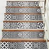 Ambiance-Live 60Aufkleber Fliesen | Sticker Selbstklebend Fliesen–Mosaik Fliesen Wandtattoo Badezimmer und Küche | Fliesen Kleber–Nuance-grau traditionellen–10x 10cm–60-teilig