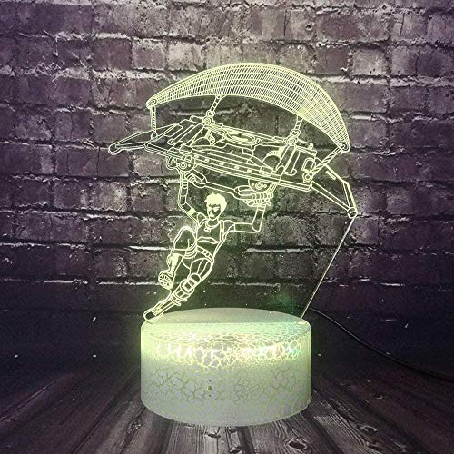 LSDAMN 3D Night Light Paragliding 3D Illusion Lamp and 7 Color Change Decor Lamp with Remote Control for Living Bed Room Bar Christmas Gifts Decorations Children s Birthday Gifts