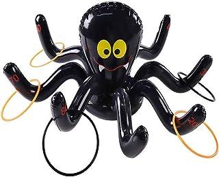 Osuter Juguete Inflable Piscina con 10PCS Anillos Conjunto de Juegos para Cumpleaños Fiesta Aire Libre