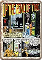 時間の道のりコミックティンサイン壁鉄絵レトロプラークヴィンテージ金属シート装飾ポスターおかしいポスターぶら下げ工芸品バーガレージカフェホーム