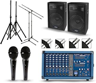 Phonic Powerpod 750R Mixer with S7 Speakers PA Package 15