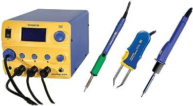 Hakko FM206-STA ESD-Safe FM-206 Desoldering Rework Station with FM-2022 Hot Tweezer, FM-2027 Soldering and FM2029 Hot Air Irons, 410 Watt