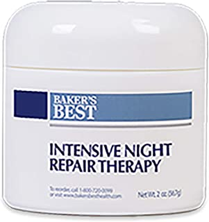 Baker's Best Intensive Night Repair Therapy – Collagen, Anti-aging, anti wrinkle cream, face mask moisturizer cream, anti aging night cream for face – 2 oz luxury cream