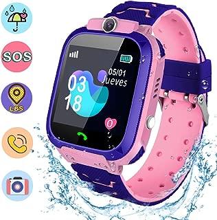 Smartwatch Niños, Reloj Inteligente Niña IP67, LBS, Hacer Llamada, Chat de Voz, SOS, Modo de Clase, Cámara, Juegos, Regalo para Niños de 3-12 años, soporta 2G Tarjetas Micro SIM