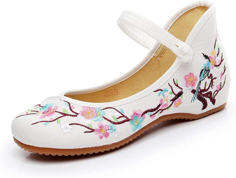 Zhaoyuanshishiyaoxiangbaodian Womens Embroidery Rubber Sole Summer Wedges Sandals Fashion Dress shoes