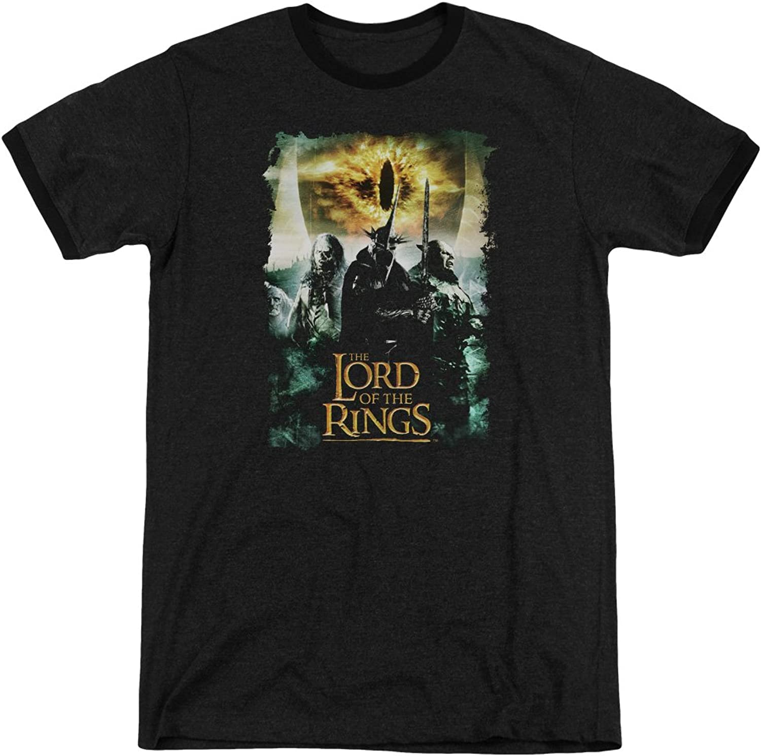 Lord Of The Rings - Mens Villain Group Ringer T-Shirt