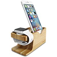 Spigen Apple Watch & iPhone Stand Bamboo Charging Dock Station Case (S370)