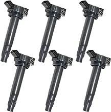 MAS Set of 6 Ignition Coils UF430 for 04-10 V6 3.3L ES330 RX330 Camry Solara Highlander