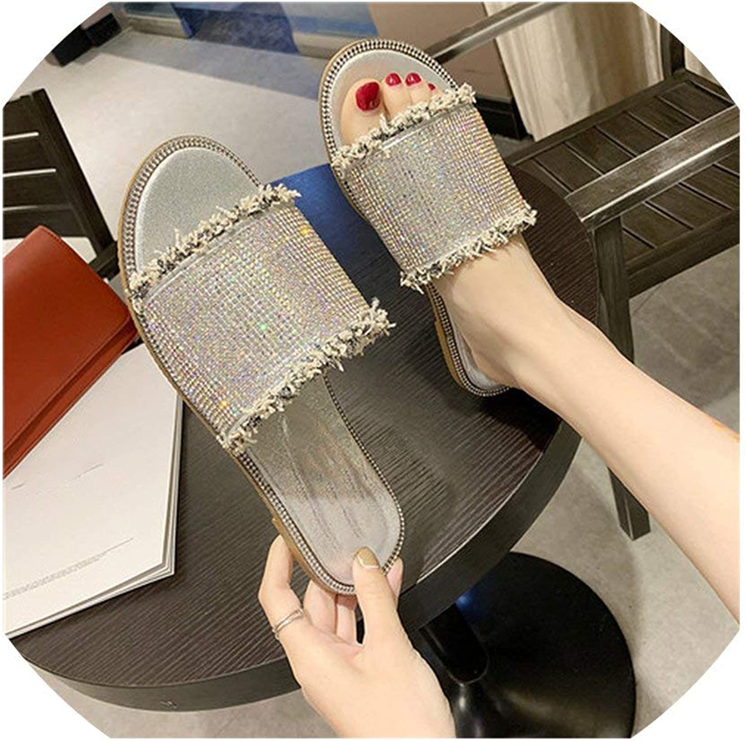 HuaHua-Store shoes Low Outdoor Women's Slippers Jelly Flip Flops Sexy Outside Soft Luxury Flat Sliders
