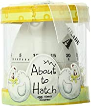 """Kate Aspen""""About to Hatch"""" Kitchen Egg Timer in Showcase Gift Box, Yellow"""