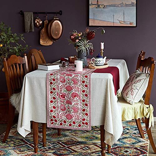 Drapeau de Table de Rivage de Fleur, Tissu de Cadeau de Vacances, Nappe de Table Basse(B;40 * 220cm;)