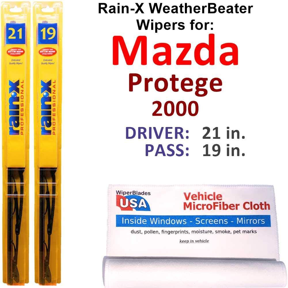 Rain-X Challenge the lowest price WeatherBeater Wiper Max 40% OFF Blades for Mazda Rai 2000 Protege Set