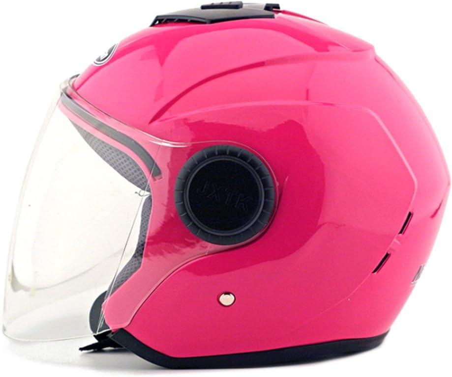Moto Moto Scooter Moto Cyclomoteur Vélo électrique automobile Tête travail protection sécurité bedeckung Helmet Chapeau Cagoule demi-sphère Bague d'hiver 215Rose