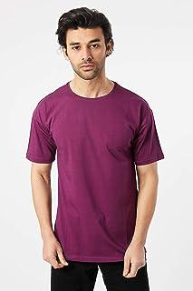 Karpefingo-Erkek Oversize Basic Mor T-Shirt
