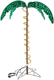 Roman Lights Ropelight Palm Tree 4.5' Tall, Indoor and Outdoor Use