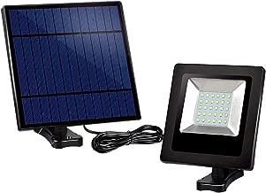 Solar Powered Lights Outdoor, Awanber Bright White Light IP65 Waterproof Auto Dusk to Dawn 350° Adjustable Solar Security Flood Lights for Barn, Garden, Garage, Pathway, Yard, Patio, Lawn, Balcony