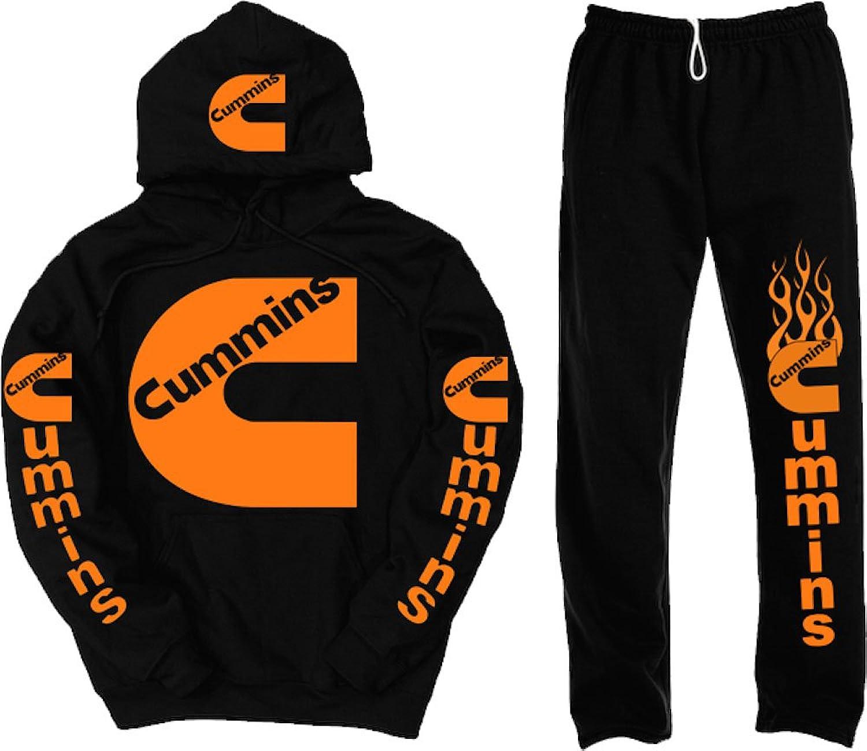 Dodge orange Logo Hoodie Sweatpants with Pockets Set