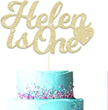 Personalised Any Age First Birthday Cake Topper. Personalised Baby Birthday Cake Topper. 1st Birthday Cake Decoration for Baby Boy & Girl. Any Name and Age Customized. Double Sided Glitter Card.
