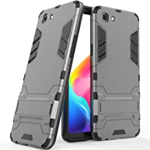 MaiJin Case for RealMe 1 / Oppo F7 Youth / A73S (6 inch) 2 in 1 Shockproof with Kickstand Feature Hybrid Dual Layer Armor Defender Protective Cover Grey MJ2in1
