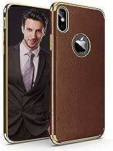 luxury leather iphone xs max case