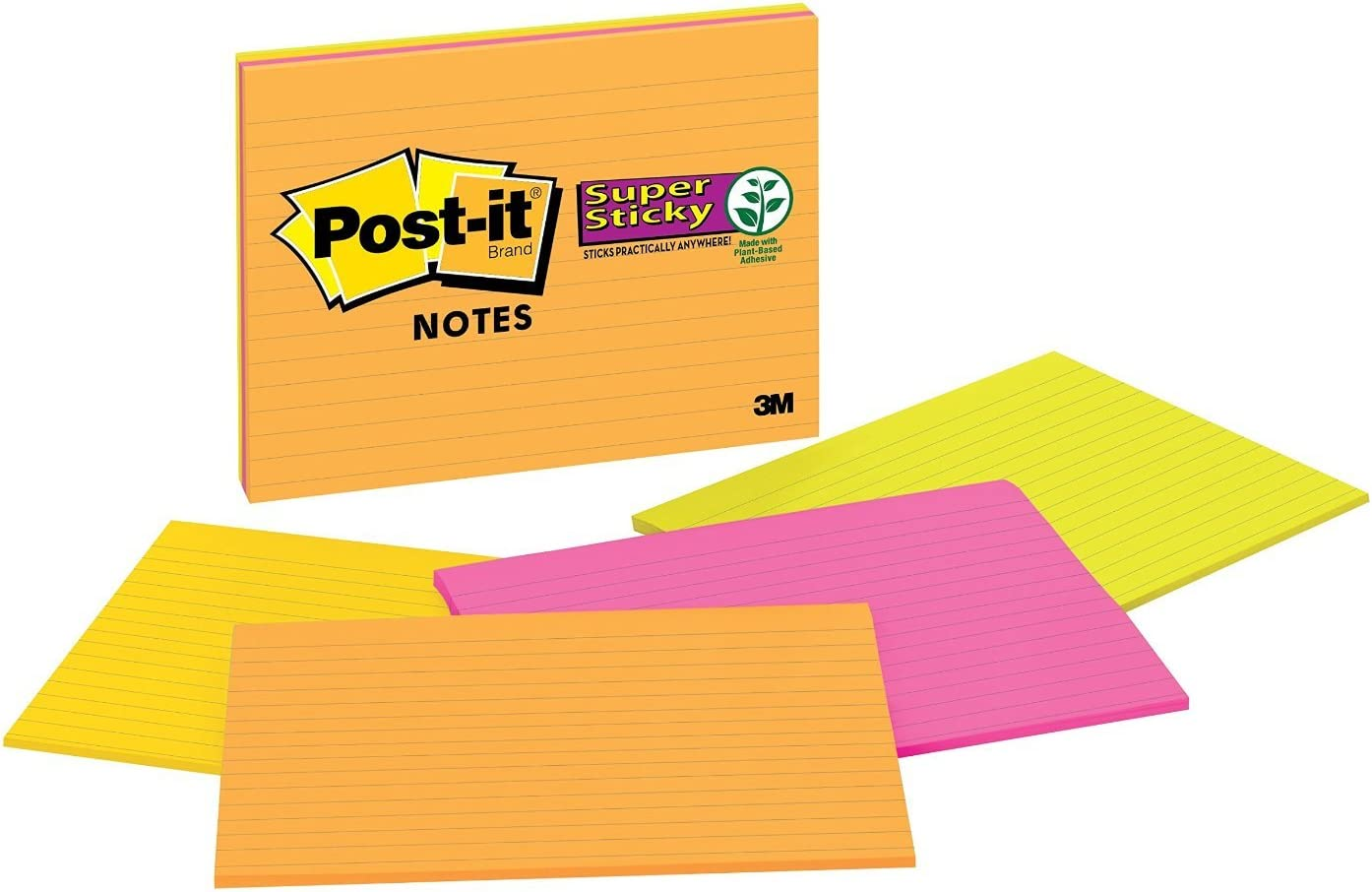 MMM6845SSPL - Post-it Super Sticky Format Fashion Large Branded goods Notes