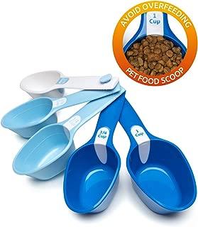 Petfactors Set of Five Pet Food Scoop, Plastic, Measuring Cups, for Dog, Cat and Bird Food