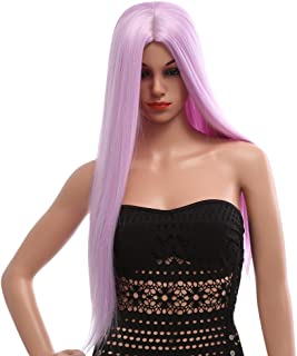 MAYCREATE® Stylish Long Straight Central Parting Synthetic Wigs Colors Hair for Women