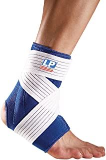 LP SUPPORT 775 - Ankle Support with Stay and Strap- Neoprene Ankle Brace - Relief for Ankle Sprain and Painful Joints - Extra Strap for Compression (M)