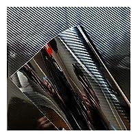 Easy to install 152センチメートルカースタイリング光沢のある黒5Dカーボンファイバービニールフィルムカーラップでエア無料バブルDIY車のチューニングパーツステッカー (Color Name : 50cmx152cm 5D carbon)