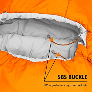 WINNER OUTFITTERS Mummy Sleeping Bag with Compression Sack, It's Portable and Lightweight for 3-4 Season Camping, Hik...