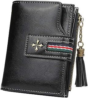 GUMAOPAJIAAAqb Monederos de Mujer, Fashion Small Oil wax Leather Wallet Women Stylish Zipper ,Hasp Card Wallet Woman High ...