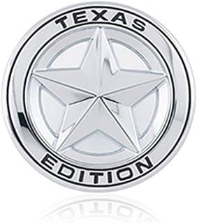 DSYCAR Durchmesser 3 '3D Metall TEXAS EDITION Stern Auto Emblem Bagde Aufkleber Decals für Universal Autos Motorrad Auto Styling Dekorative Zubehör (Silber)