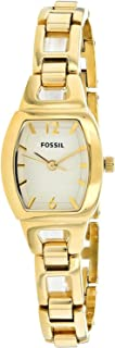 Fossil Women's White Dial Stainless Steel Band Watch - Bq1067, Analog Display